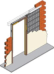 Armazón metálico puerta corredera