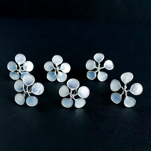 Transparent white glitter flower hairpins