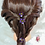 Thumbnail: Purple and gold flowers hair pin