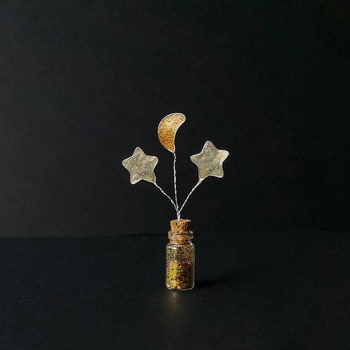 Cooper moon and golden stars, mini bottle