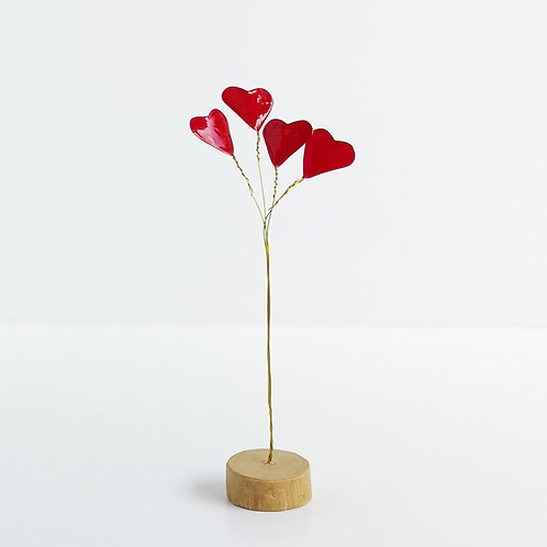 Love bouquet, wire and driftwood sculpture