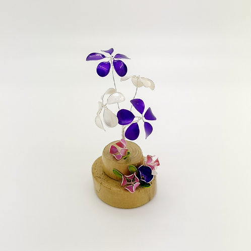 Enchanted garden - Purple, white and pink flowers