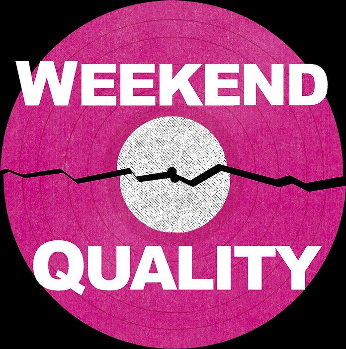 Weekend Quality logo broken record