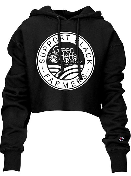 Support Black Farmers Champion Cropped Hoodie