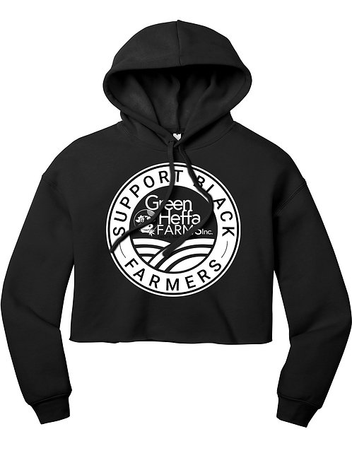 Support Black Farmers Basic Cropped Hoodie
