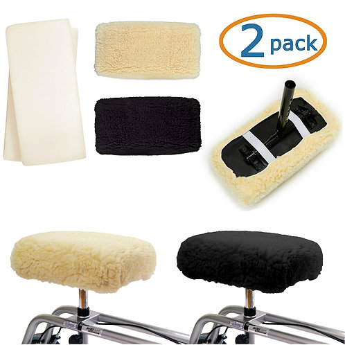 Knee Walker Cushion Covers 2 Pack for Knee Scooter