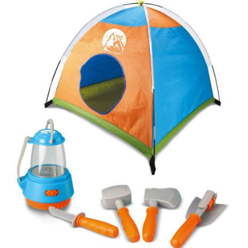 Little Explorer Camping Tent And Tools Play Set For Kids With Lantern