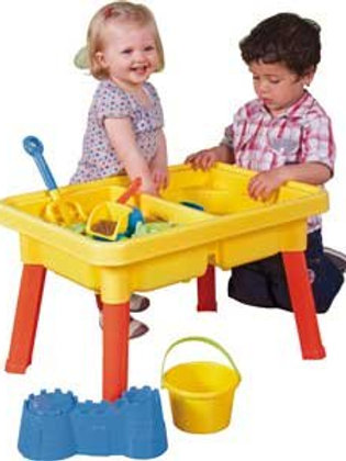 Sandbox Castle 2-In-1 Sand And Water Table Beach Play Set For Kids