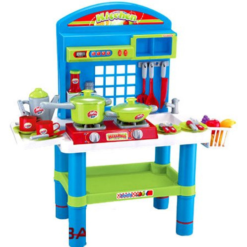 "Deluxe Kitchen Appliance Cooking Play Set 28"" With Lights & Sound"