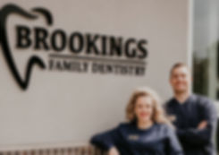 Brookings Family Dentisty staff: Dr. NathaHilbrands and Hygienist Miranda Hilbrands
