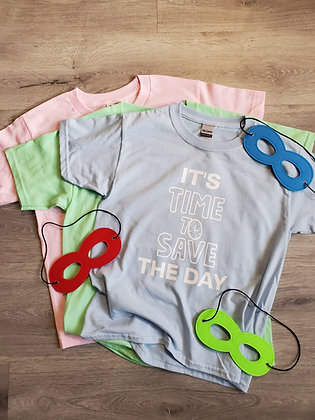 """Kids TShirt """"Time to Save the Day"""""""