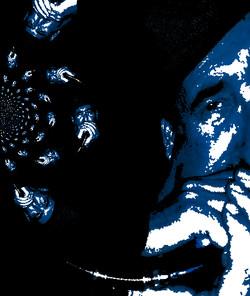 Fenny blowing swirled blues