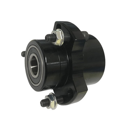 """Stepped Front Hub BLACK 5/8"""" Outer and 3/4"""" Inner Bearings"""