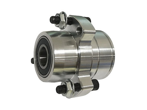 """Stepped Front Hub SILVER 5/8"""" Outer and 3/4"""" Inner Bearings"""