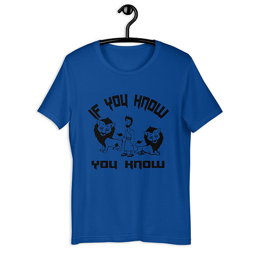 If you know you know Lions den Short-Sleeve Unisex T-Shirt