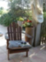 Détente sur la terrasse de chambre d'hôtes
