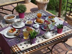 Petit-déjeuner extérieur
