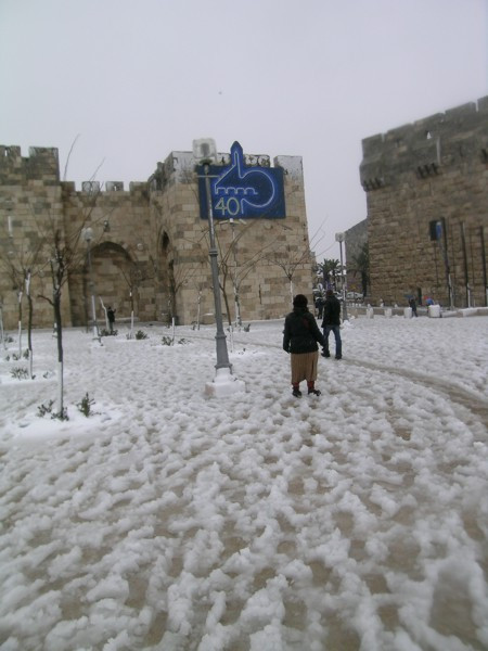 A Snowy Day in Jerusalem