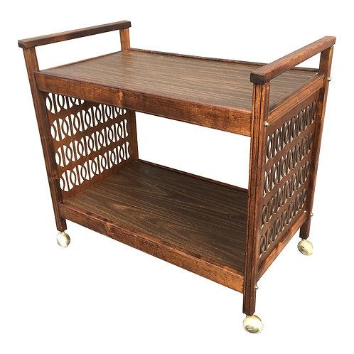 Mid Century Modern Wooden Bar Cart