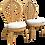 Thumbnail: 1970s Vintage Rattan Tropical Leaf Back Chairs- A Pair
