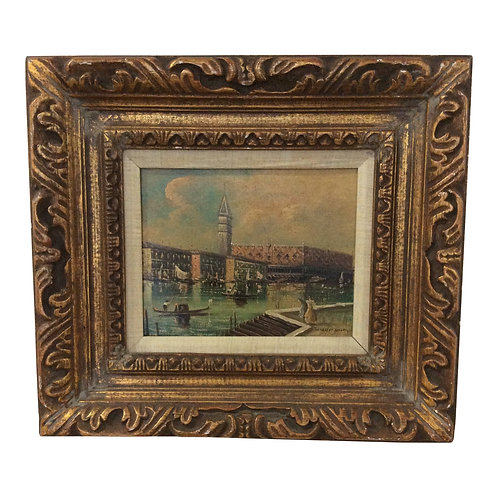 Late 19th Century Antique Venetian Grand Canal Oil Painting