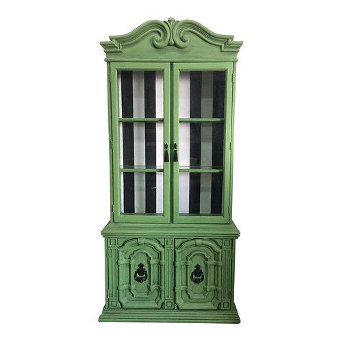 20th Century Chinoiserie Emerald Green Hutch