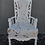 Thumbnail: Vintage Mid-Century Hollywood Regency Style Chair