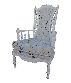 Vintage Mid-Century Hollywood Regency Style Chair