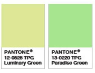 Luminary Green and Paradise Green