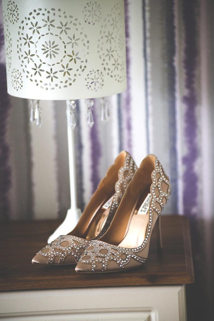 Badgley Mischka Rouge Embellished Sandals