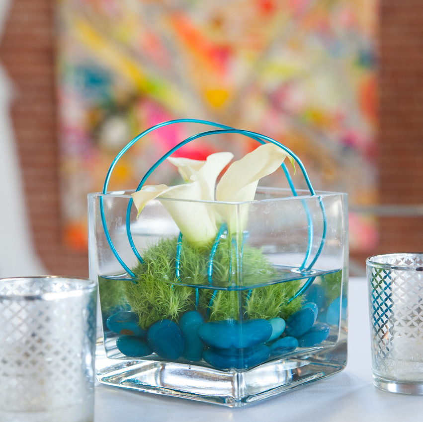 Modern Centerpieces with Sterling