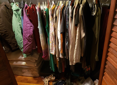 Another Big Shift is coming, so I reorganized my closet
