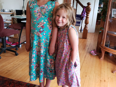 Sewing Baboosh dresses for my kids