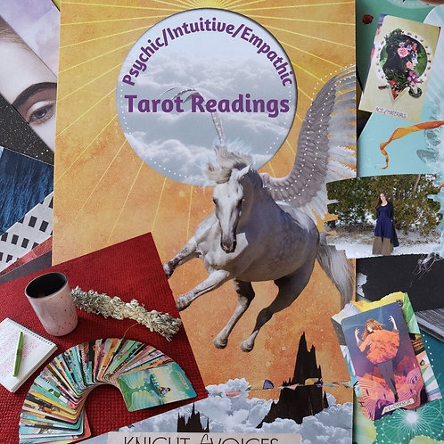 Personalized/intuitive tarot card reading