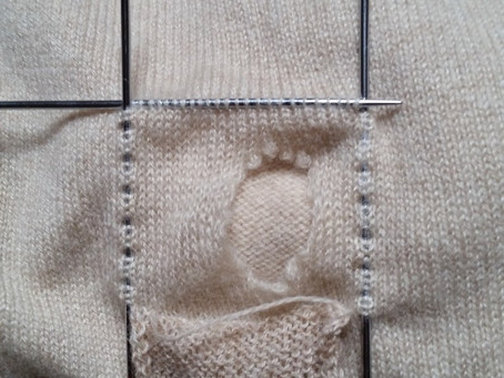 Finishing Cashmere Sweater Repair
