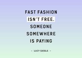 fast fashion isnt