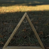 Small Triangle Display Gold