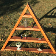 Large Triangle Shelf Red Stain