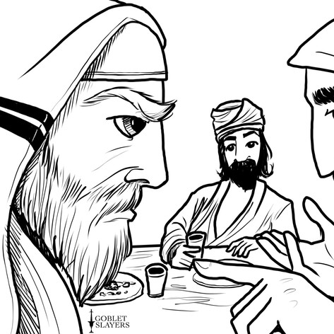 Jesus and Zaccheus Eat a Meal