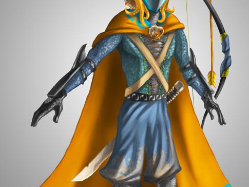 Ammonite Warrior-Blue_Orange_Green_Tan.j