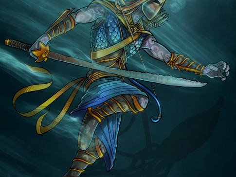 Ammonite Warrior
