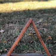 Small Triangle Display Red Stain