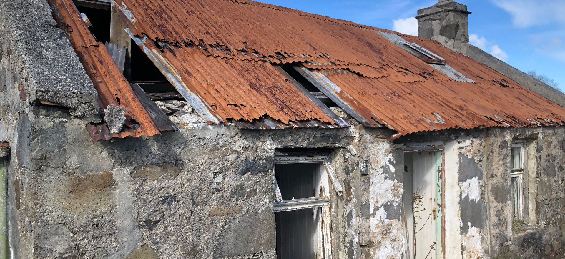 Roof in need of repair, March 2020