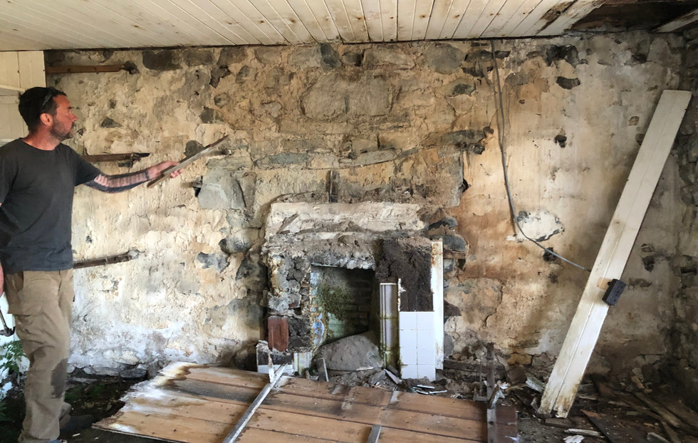 Taking down the timber interior