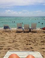 Relaxe na praia de Miami Beach