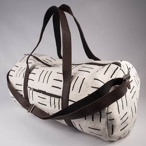 Madame Dakar Weekend Bag - Bogolan -white/black