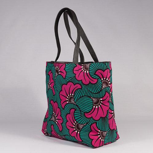 Madame Dakar Reversible Tote Bag - pink flowers