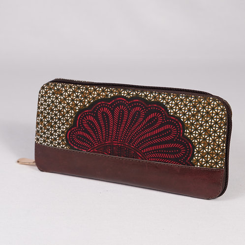 Wepia Wax Wallet - red/brown