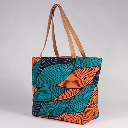 Madame Dakar ReversibleTote Bag - orange/turquois