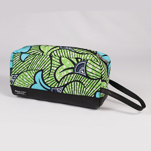 Madame Dakar Sponge Bag - Wax Print - green